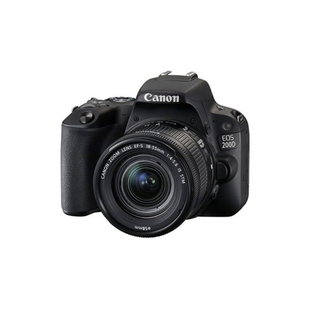 Canon Digital EOS 200D with lens 18-55mm Black [EOS200DLS]